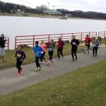 Zawodnicy podczas biegu maniacka dziesiątka