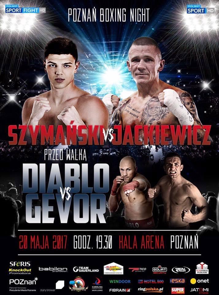 Plakat Szymanski Jackiewicz, Pożnan Boxing Night