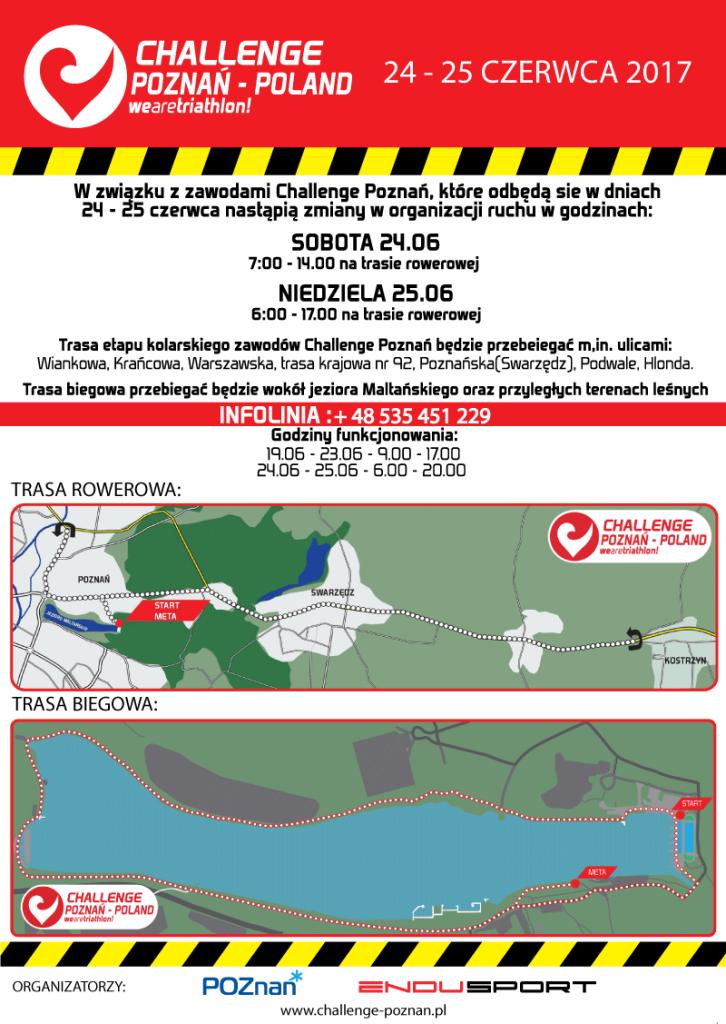 Ulotka utrudnienia w ruchu Triathlon Challenge 2017