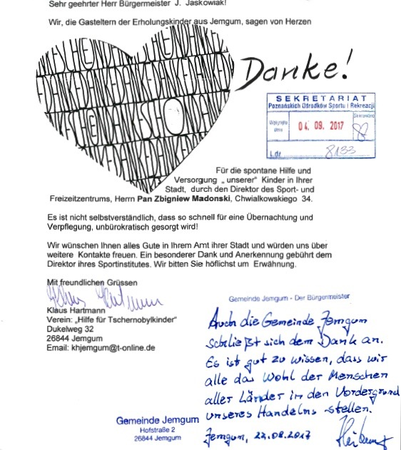 Grafika przedstawiająca podziękowania z niemiec.
