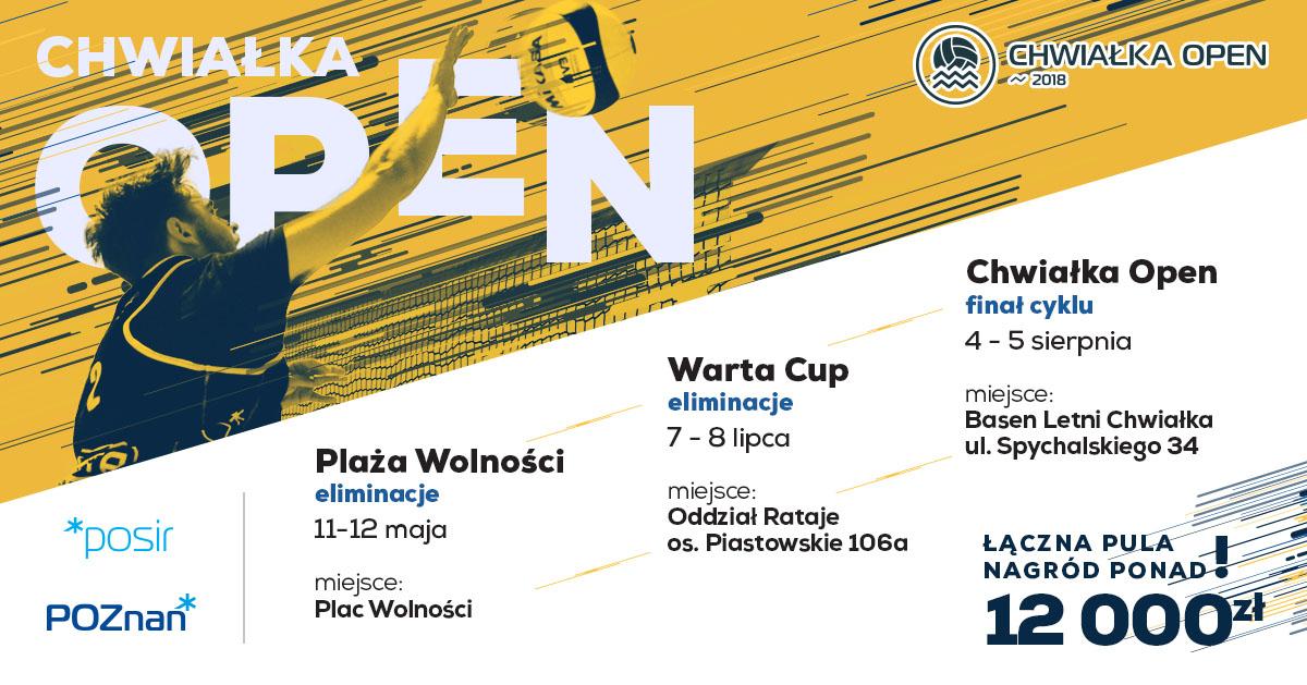 plakat siatkowka facebook - Chwiałka Open, Warta Cup i Plaża Wolności 2018