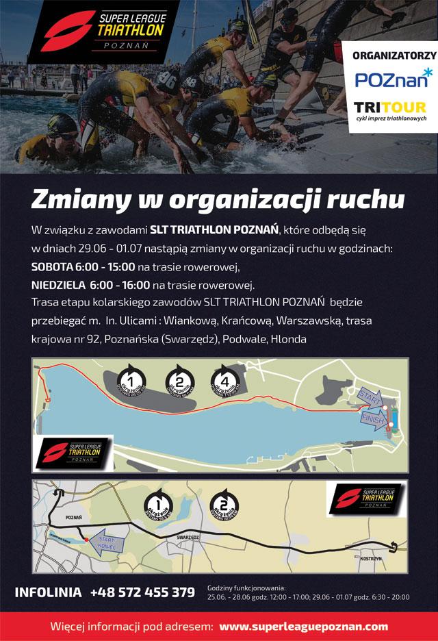 Super League Triathlon Poznań - utrudnienia