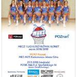 Sportowy weekend na Chwiałce (1) Plakat meczu 1 ligi koszykówki kobiet