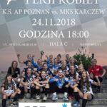 Sportowy weekend na Chwiałce (3) Plakat meczu 1 ligi piłki ręcznej kobiet
