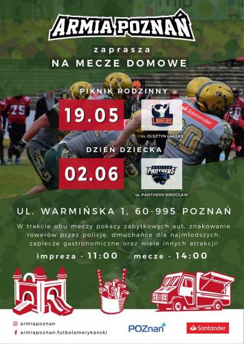 Armia Poznań - plakat meczu