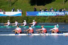 Polska i niemiecka czwórka w czasie wyścigu