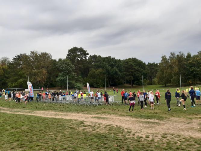 Polana Harcerza - grupa młodzieży na trawie