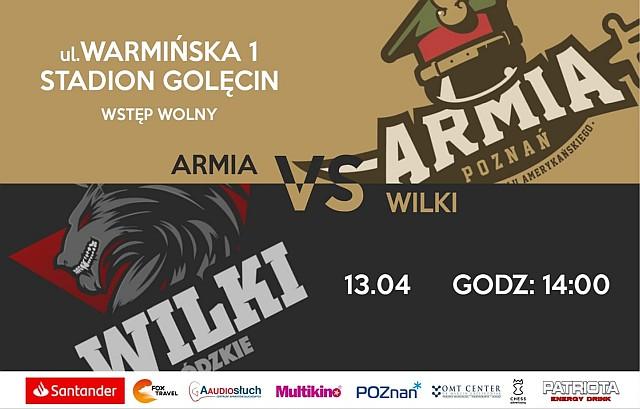 Plakat meczu Wilki Łódzkie - Armia Poznań