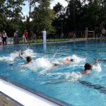 Dzieci w basenie sportowym