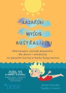 Łazarski Wyścig Australijski - plakat