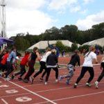 Licealiada lekkoatletyczna (3) start biegu dziewcząt na 800 metrów