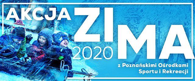 Akcja Zima - plakat promujący akcję dzieci na śniegu